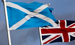 Saltire and Union Jack flags